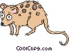 Vector Clipart picture  of a starry-eyed opossum