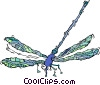 Vector Clipart image  of a dragon fly