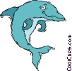 Vector Clipart graphic  of a dolphin