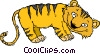 baby tiger Vector Clipart graphic