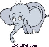 Vector Clipart illustration  of a elephant