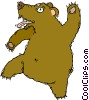 Vector Clipart graphic  of a bear