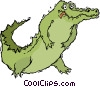 Vector Clip Art graphic  of an alligator