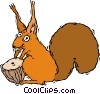 Vector Clip Art image  of a squirrel