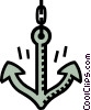 boat anchor Vector Clip Art picture