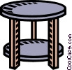 Vector Clip Art graphic  of a round table