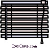 horizontal blinds Vector Clip Art graphic