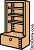 Vector Clip Art image  of a shelf unit