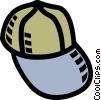 Vector Clip Art image  of a baseball hat