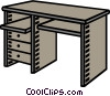 Vector Clip Art picture  of a computer desk