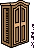 wardrobe, furniture Vector Clip Art picture