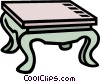 Vector Clipart graphic  of a coffee table
