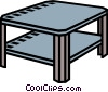 coffee table, end table Vector Clipart illustration