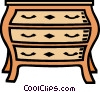 Vector Clipart picture  of a dresser