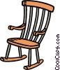 rocking chair Vector Clipart graphic