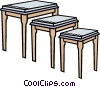 Vector Clip Art graphic  of a stools