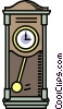 Vector Clip Art image  of a grandfather clock