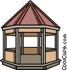 Vector Clipart illustration  of a gazebo