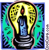 Vector Clip Art image  of a candle