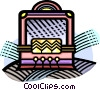 old style radio Vector Clipart illustration