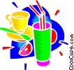 Vector Clip Art image  of a lemonade