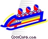 Vector Clipart graphic  of a bobsled