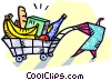 Vector Clip Art image  of a Grocery shopping