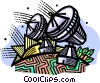 Vector Clipart illustration  of a satellite dishes