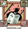 newspaper industry Vector Clipart illustration