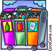 Recycling bins Vector Clip Art graphic
