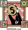 Vector Clip Art image  of a high finance
