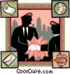 shaking hands Vector Clip Art image
