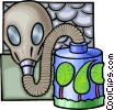 Vector Clipart picture  of a Toxic pollution and its effects on the environment