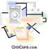 laundry theme Vector Clip Art picture