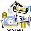 Vector Clip Art picture  of a mason industry