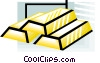 Vector Clip Art graphic  of a gold