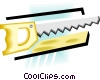 hand saw Vector Clip Art graphic