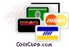 Vector Clip Art picture  of a credits cards