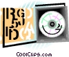 Vector Clipart image  of a CD-ROM in case