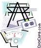 Vector Clip Art graphic  of a hydro electric energy