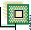 computer circuit or chip design Vector Clip Art picture