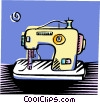 sewing machine Vector Clip Art image
