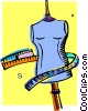 Vector Clip Art picture  of a mannequin