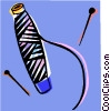 Vector Clipart illustration  of a needle and thread