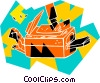 Vector Clip Art image  of a photo copier