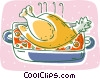 turkey, cooked Vector Clipart image