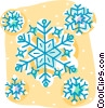 Vector Clip Art graphic  of a snow flake motif