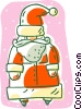 Vector Clipart graphic  of a Santa clause
