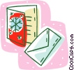 Vector Clip Art picture  of a Christmas card