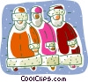 Vector Clipart picture  of a Santa clause